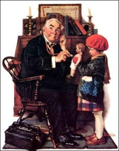 norman-rockwell-doctor-doll-posters